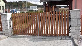 Křídlová brána - vzorová brána č.1
