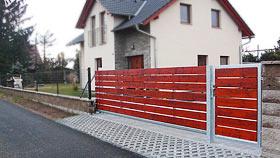 Posuvná  brána - vzorová brána č.1