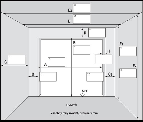 Zaměření garáže Hormann