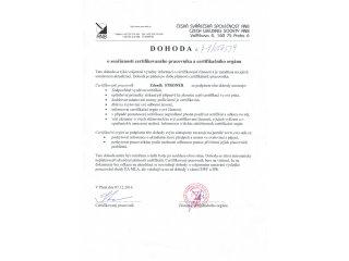 Obr. 244 - Dohoda o součinnosti certifikovaného pracovníka