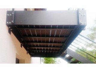 Zakázková výroba zábradlí, schodů a plotů obr.č.: 2 - Samonosné schodiště (Horní Bříza)